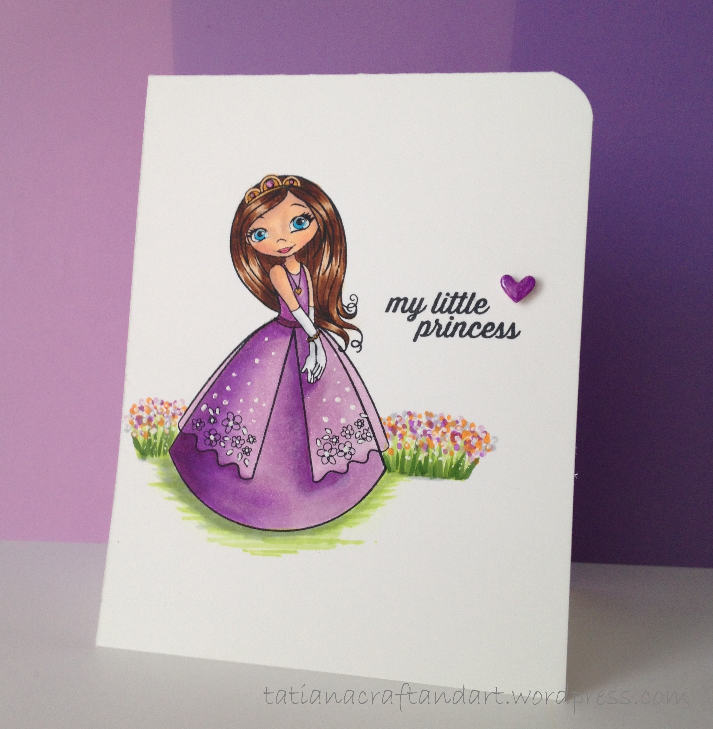 My Little Princess Card – Birthday Card Series – Tatiana Craft And Art