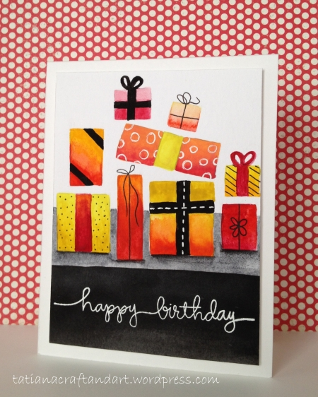 HB Gift Boxes Freehand watercoloring 2014 (2)