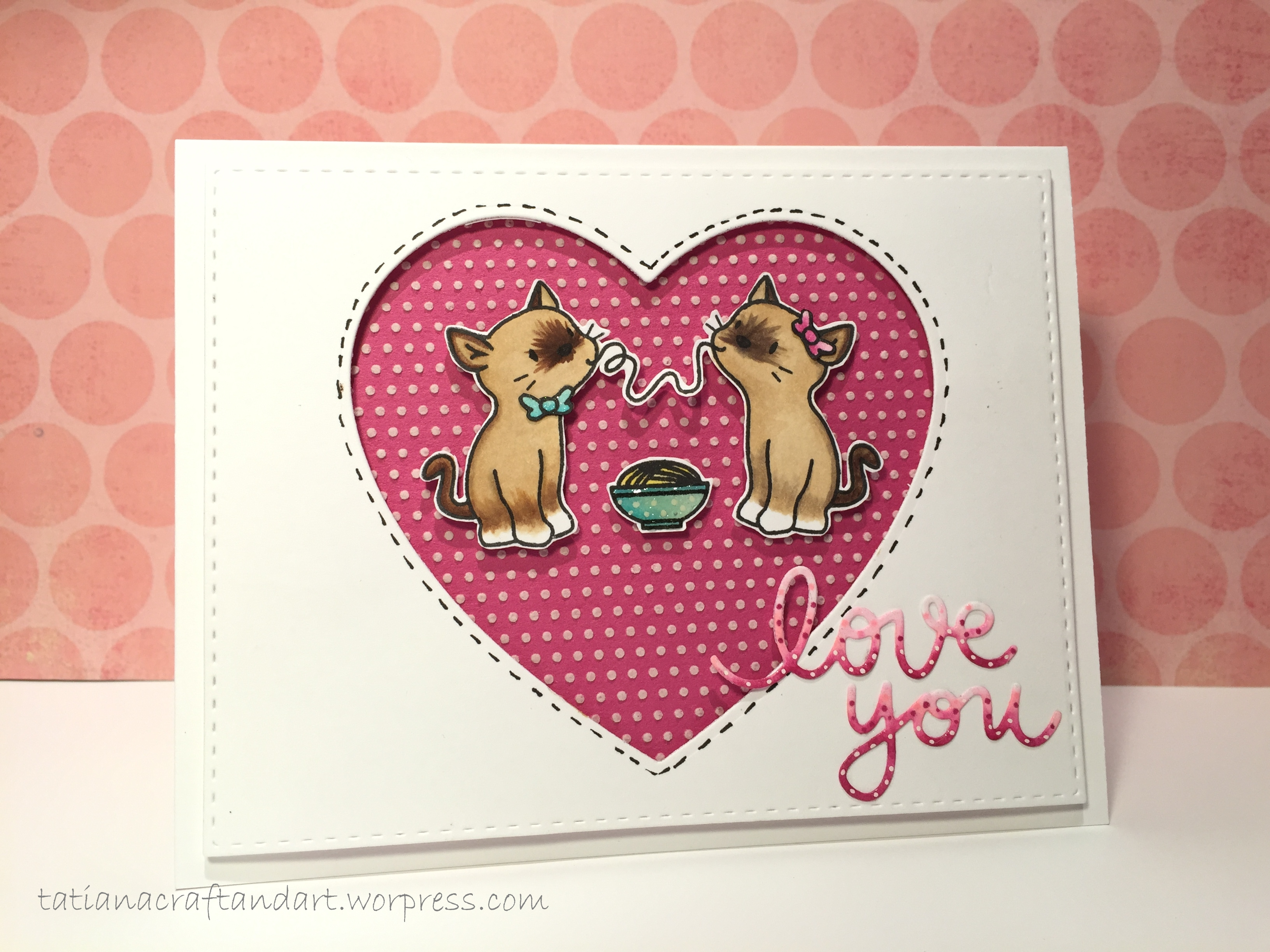 love you – love & valentine's day card series