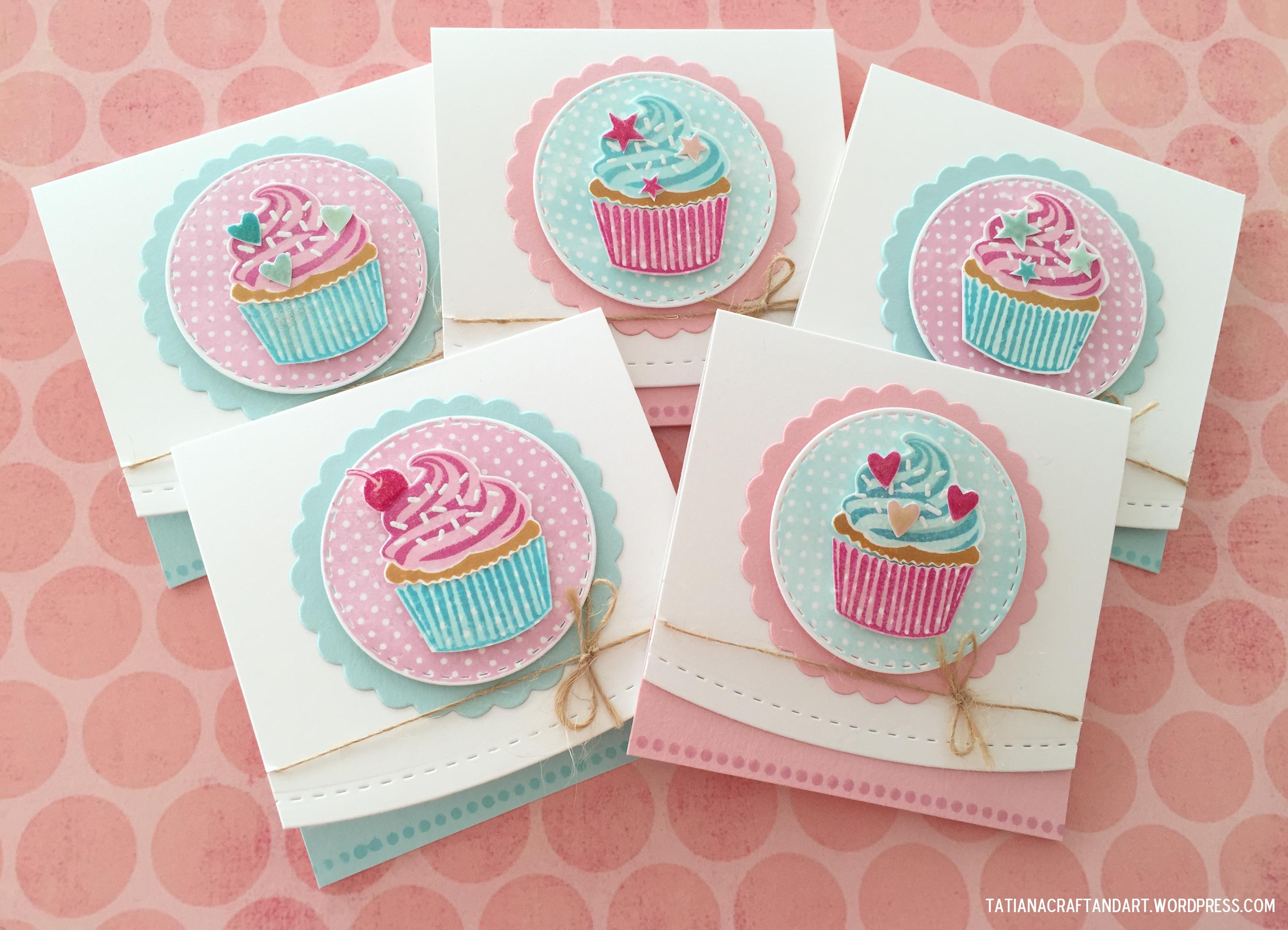 Birthday Cupcakes Birthday Card Series Tatiana Craft And Art – Cupcake Birthday Cards
