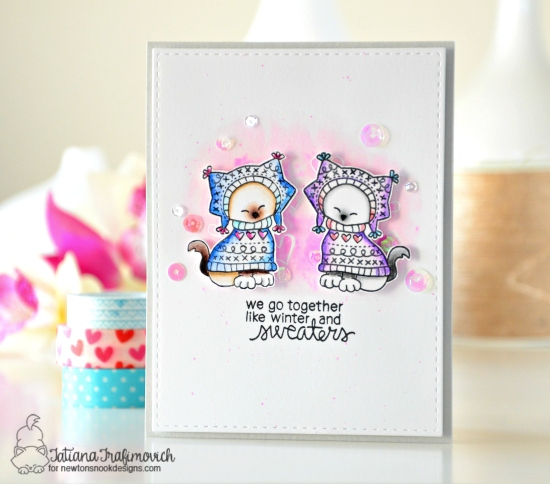 Sweater Weather #handmade Card by Tatiana Trafimovich #tatianacraftandart - Sweater Weather Stamp set ny Newtons Nook Designs #newtonsnook