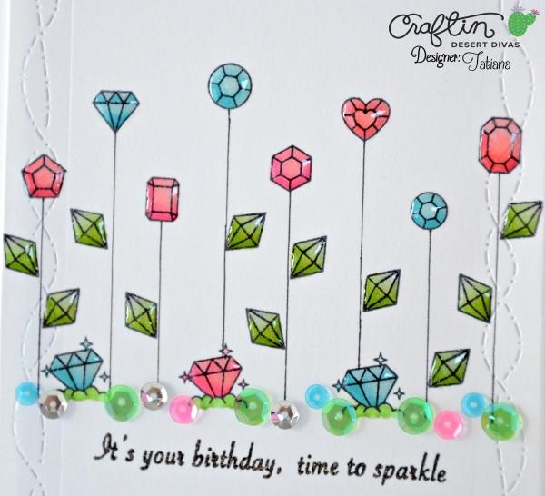 It's Your Birthday #handmadecard by Tatiana Trafimovich #tatianacraftandart - Treasure Trolls stamp set by Craftin Desert Divas #craftindeserdivas