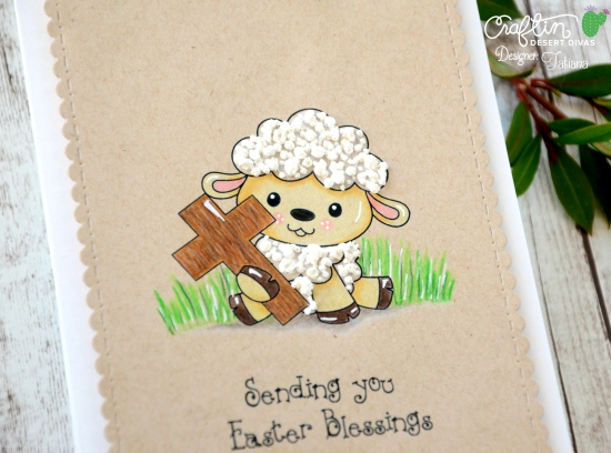 Lamb With A Cross #handmadecard by Tatiana Trafimovich #tatianacraftandart - Lamb With A Cross digi stamp by Craftin Desert Divas #craftindeserdivas