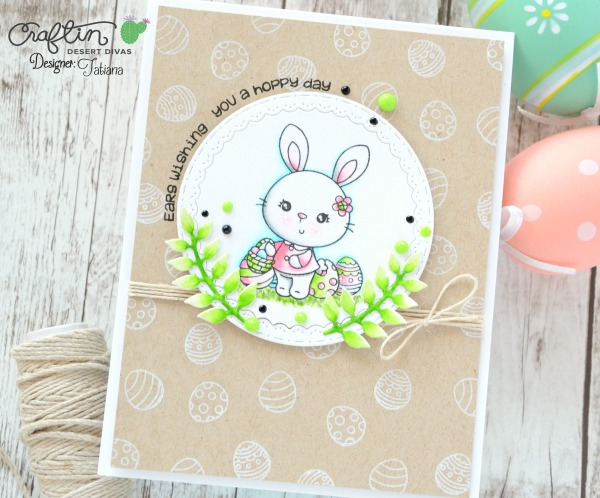 Wishing You A Hoppy Day #handmadecard by Tatiana Trafimovich #tatianacraftandart - Somebunny stamp set by Craftin Desert Divas #craftindeserdivas