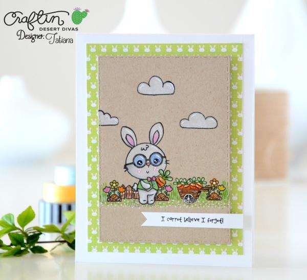 I Carrot Belive #handmadecard by Tatiana Trafimovich #tatianacraftandart - Somebunny stamp set by Craftin Desert Divas #craftindeserdivas
