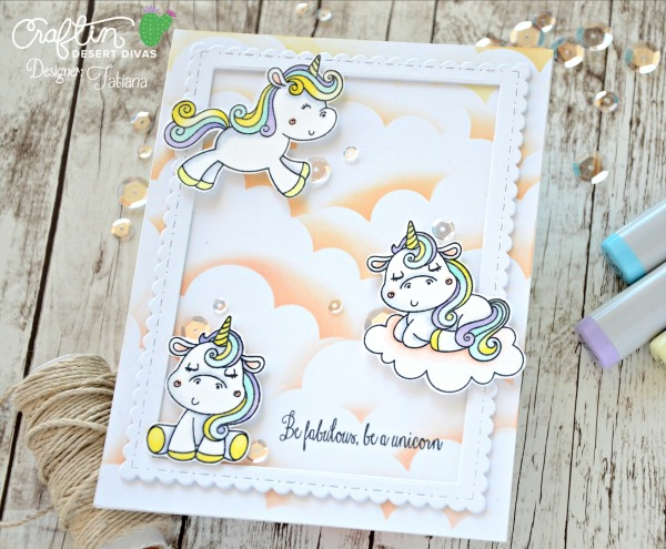 Be Fabulous Be A Unicorn #handmadecard by Tatiana Trafimovich #tatianacraftandart - Somebunny stamp set by Craftin Desert Divas #craftindeserdivas
