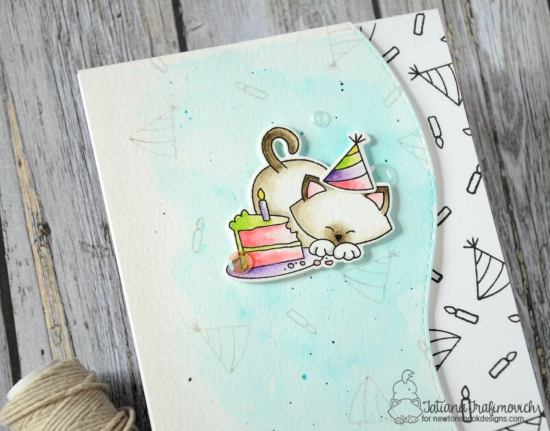 Happy Cake Day #handmade birthday card by Tatiana Trafimovich #tatianacraftandart - Newton Loves Cake Stamp set by Newton's Nook Designs #newtonsnook