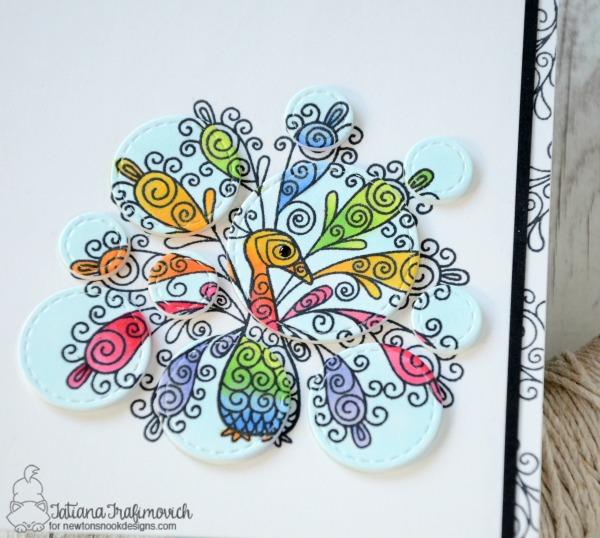 Be Colorful #handmade card by Tatiana Trafimovich #tatianacraftandart - Beautiful Plumage Stamp set by Newton's Nook Designs #newtonsnook