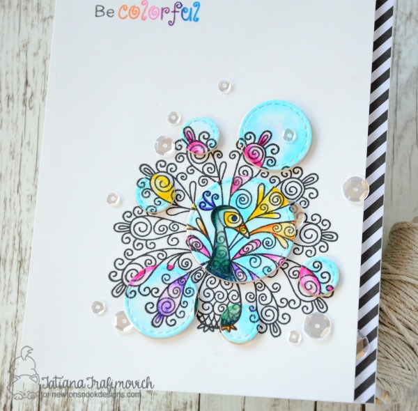Be Colorful #handmade card by Tatiana Trafimovich #tatianacraftandart - Beautiful Plumage Stamp set by Newton's Nook Designs #newtonsnook
