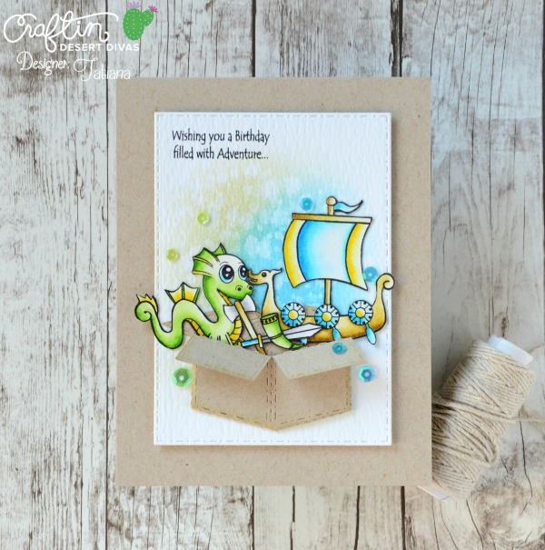 Wishing You A Birthday Filled With Adventures #handmadecard by Tatiana Trafimovich #tatianacraftandart - Norse Warriors stamp set by Craftin Desert Divas #craftindeserdivas