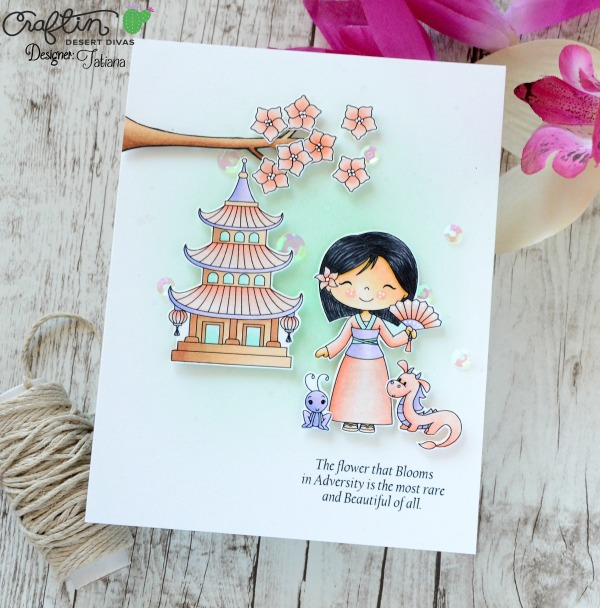 The Flower That Blooms In Adversity #handmadecard by Tatiana Trafimovich #tatianacraftandart - Fairytale Dreams stamp set by Craftin Desert Divas #craftindeserdivas