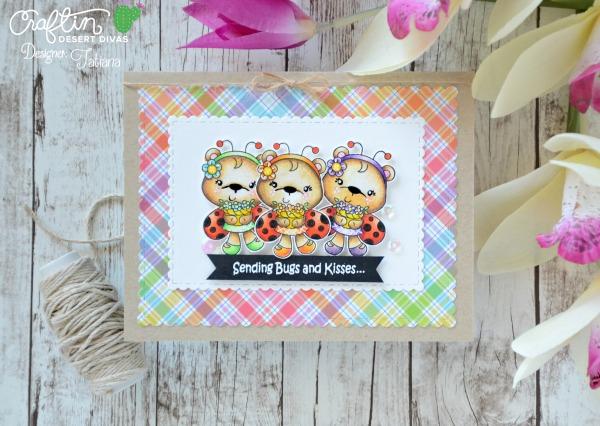 Sending Bugs And Kisses #handmadecard by Tatiana Trafimovich #tatianacraftandart - Ladybug Garden stamp set by Craftin Desert Divas #craftindeserdivas