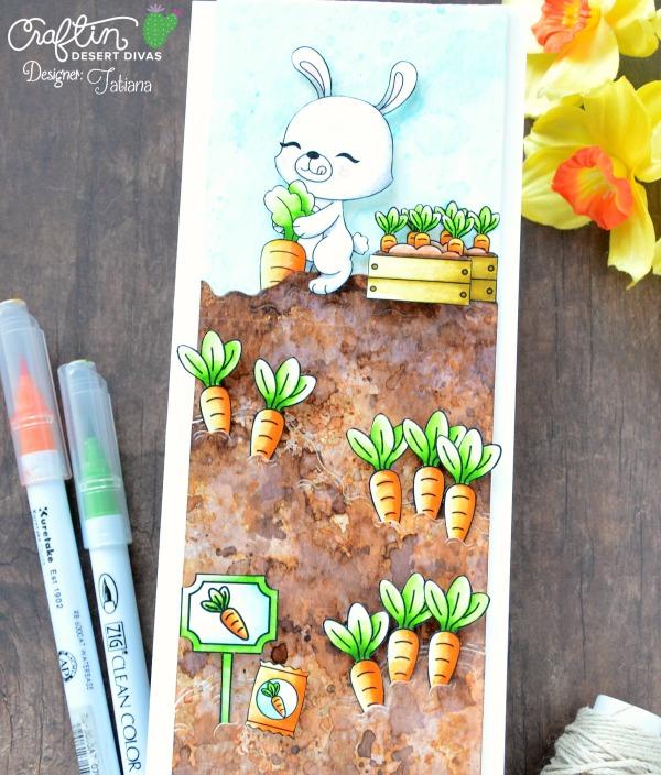 Plant Smiles #handmadecard by Tatiana Trafimovich #tatianacraftandart - Garden Border die set by Craftin Desert Divas #craftindeserdivas
