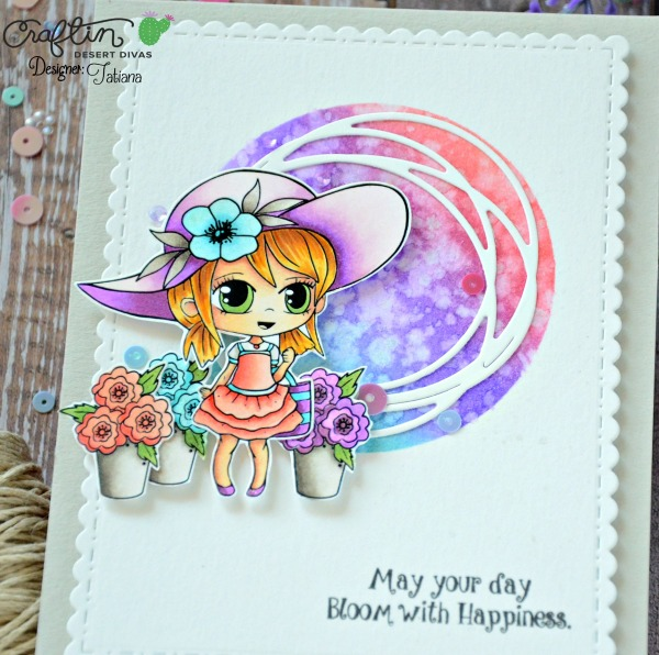 May Your Day Bllom With Happiness #handmadecard by Tatiana Trafimovich #tatianacraftandart - Market Stand stamp set by Craftin Desert Divas #craftindeserdivas