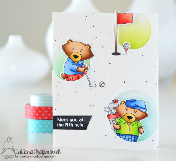 Meet You At The 19th Hole #handmade card by Tatiana Trafimovich #tatianacraftandart - Winston's Tee Time Stamp set by Newton's Nook Designs #newtonsnook