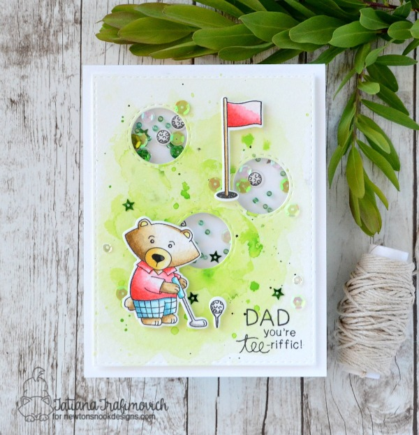 Dad You're Tee-riffic #handmade card by Tatiana Trafimovich #tatianacraftandart - Winston's Tee Time Stamp set by Newton's Nook Designs #newtonsnook