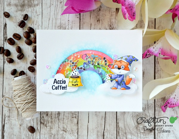 Accio Coffee #handmadecard by Tatiana Trafimovich #tatianacraftandart - Coffee Wizards stamp set by Craftin Desert Divas #craftindeserdivas