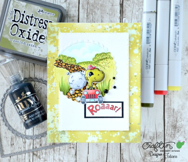 Roaaar! #handmadecard by Tatiana Trafimovich #tatianacraftandart - Dino Dig stamp set by Craftin Desert Divas #craftindeserdivas