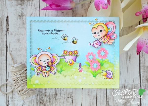 Plant Seeds of Kindness #handmadecard by Tatiana Trafimovich #tatianacraftandart - Garden Bugs stamp set by Craftin Desert Divas #craftindeserdivas
