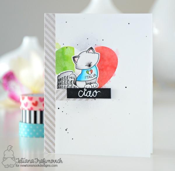 Ciao #handmade card by Tatiana Trafimovich #tatianacraftandart - Newton Dreams of Italy stamp set by Newton's Nook Designs #newtonsnook