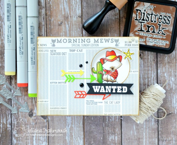 Wanted For Celebrating Another Birthday #handmade card by Tatiana Trafimovich #tatianacraftandart - Newton Rides West stamp set by Newton's Nook Designs #newtonsnook