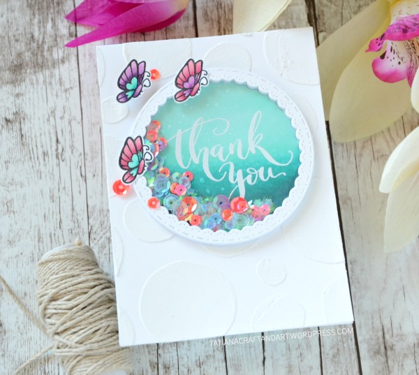 Thank You #handmade card by Tatiana Trafimovich #tatianacraftandart - Mini Thank You stamp set by Studio Katia #studiokatia