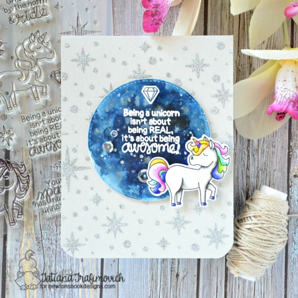 Being A Unicorn #handmade card by Tatiana Trafimovich #tatianacraftandart - Believe in Unicorns stamp set by Newton's Nook Designs #newtonsnook