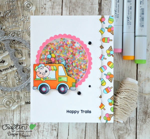 Happy Trails #handmadecard by Tatiana Trafimovich #tatianacraftandart - Happy Trails stamp set by Craftin Desert Divas #craftindeserdivas