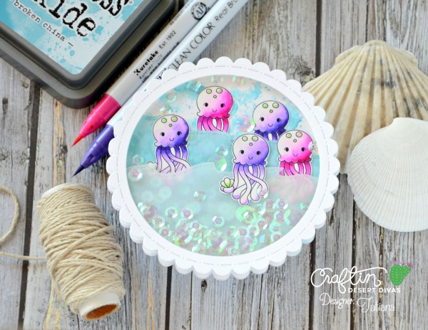 Ocean Friends #handmadecard by Tatiana Trafimovich #tatianacraftandart - Ocean Friends stamp set by Craftin Desert Divas #craftindeserdivas