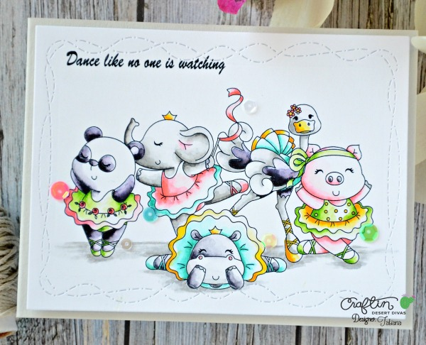 Dance Like No One Is Watching #handmadecard by Tatiana Trafimovich #tatianacraftandart - Twinkle Toes stamp set by Craftin Desert Divas #craftindeserdivas