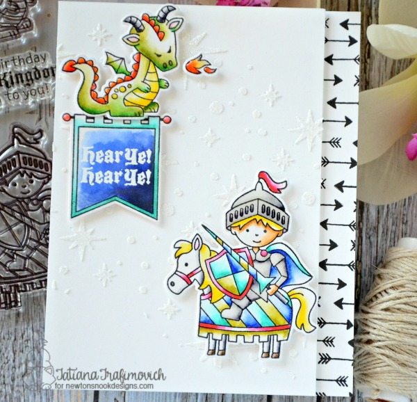 Hear Ye #handmade card by Tatiana Trafimovich #tatianacraftandart - Knight's Quest stamp set by Newton's Nook Designs #newtonsnook
