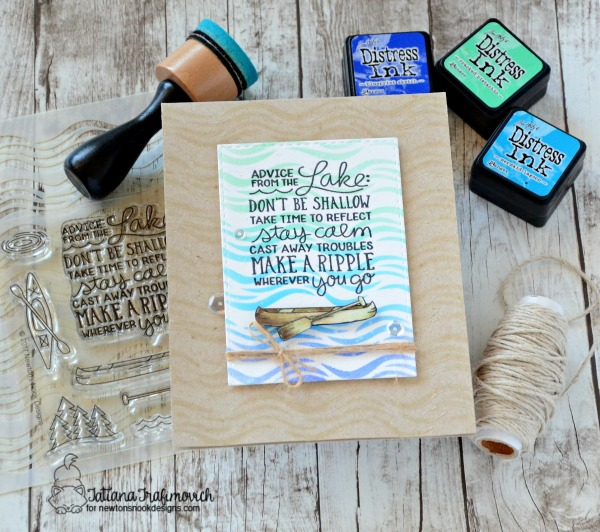 Advice From The Lake #handmade card by Tatiana Trafimovich #tatianacraftandart - Lake Advice stamp set by Newton's Nook Designs #newtonsnook