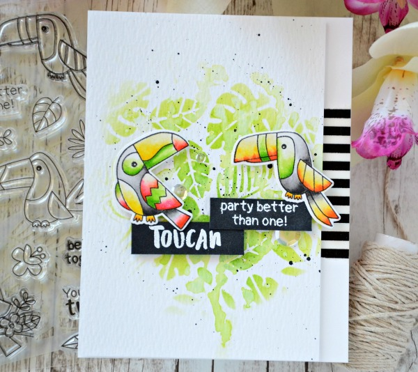 Toucan Party Better Than One Together #handmade card by Tatiana Trafimovich #tatianacraftandart - Toucan Party stamp set by Newton's Nook Designs #newtonsnook