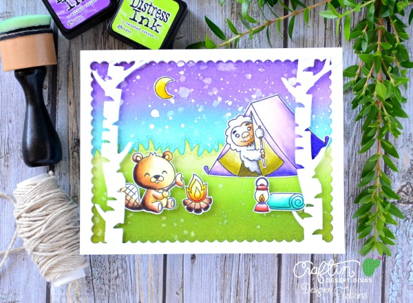 Yeti For Adventure? #handmadecard by Tatiana Trafimovich #tatianacraftandart - Happy Camper stamp set by Craftin Desert Divas #craftindeserdivas