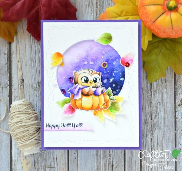 Happy Fall Y'All #handmadecard by Tatiana Trafimovich #tatianacraftandart - Happy Fall digital stamp set by Craftin Desert Divas #craftindeserdivas