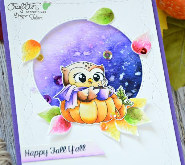 Happy Fall Y'All #handmadecard by Tatiana Trafimovich #tatianacraftandart - Happy Fall digital stamp set by Craftin Desert Divas #craftindeserdivas