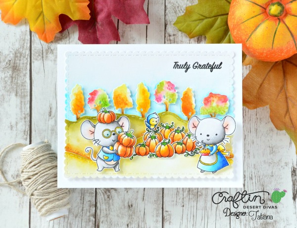 Truly Grateful #handmadecard by Tatiana Trafimovich #tatianacraftandart - Happy Camper stamp set by Craftin Desert Divas #craftindeserdivas
