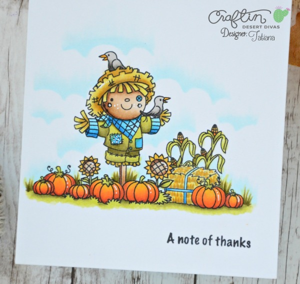 A Note Of Thanks #handmadecard by Tatiana Trafimovich #tatianacraftandart - Harvest Happiness stamp set by Craftin Desert Divas #craftindeserdivas
