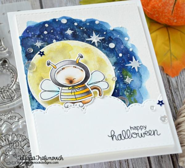 Happy Halloween #handmade card by Tatiana Trafimovich #tatianacraftandart - Newton's Costume Party stamp set by Newton's Nook Designs #newtonsnook