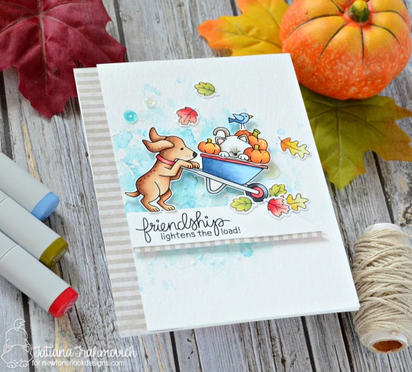 Friendship Lightens The Load #handmade card by Tatiana Trafimovich #tatianacraftandart - Newtons Nook STAMPtember stamp set by Newton's Nook Designs #newtonsnook