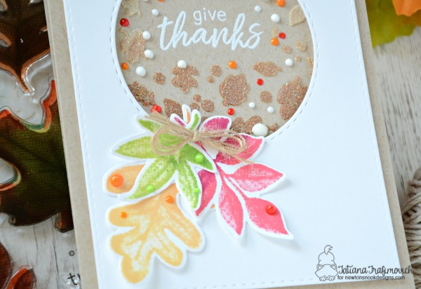 Give Thanks #handmade card by Tatiana Trafimovich #tatianacraftandart - Shades of Autumn stamp set by Newton's Nook Designs #newtonsnook