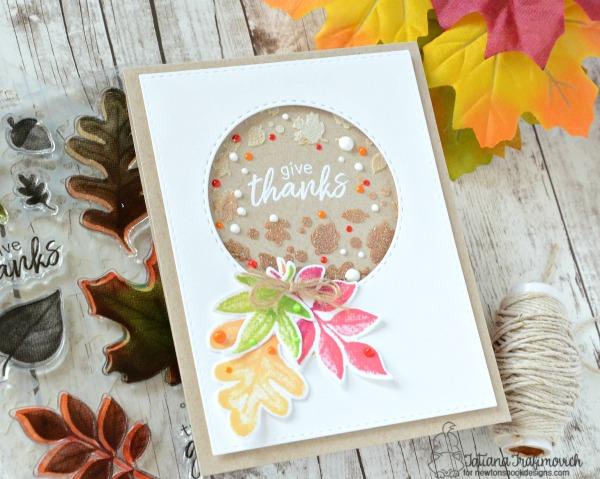 Give Thanks #handmade card by Tatiana Trafimovich #tatianacraftandart - Shades of Autumn stamp set by Newton's Nook Designs #newtonsnook