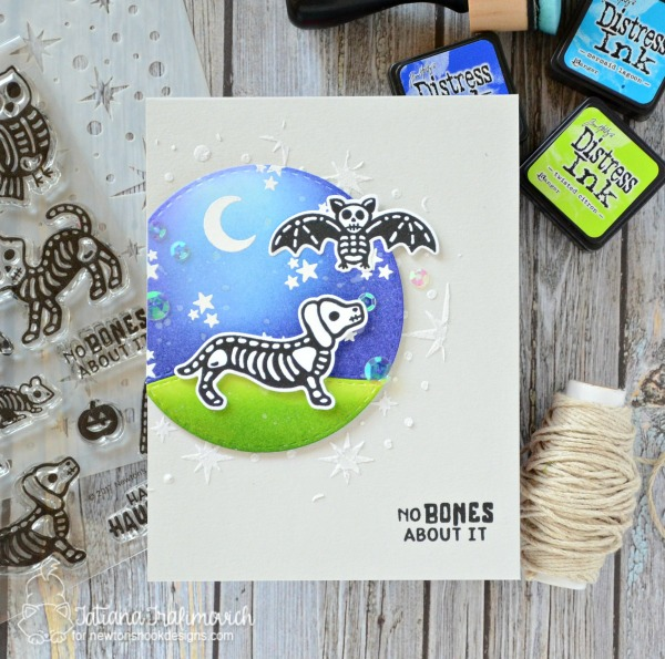 No Bones About It #handmade card by Tatiana Trafimovich #tatianacraftandart - Spooky Skeletons stamp set by Newton's Nook Designs #newtonsnook