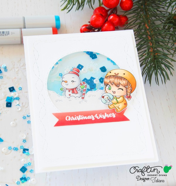 Christmas Wishes #handmadecard by Tatiana Trafimovich #tatianacraftandart - Christmas Wishes stamp set by Craftin Desert Divas #craftindeserdivas