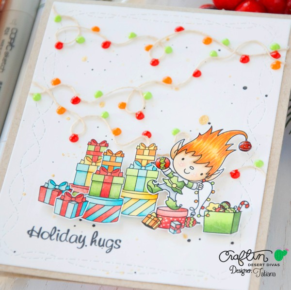 Holiday Hugs #handmadecard by Tatiana Trafimovich #tatianacraftandart - Holiday Hugs stamp set by Craftin Desert Divas #craftindeserdivas