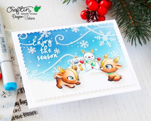 Enjoy The Season #handmadecard by Tatiana Trafimovich #tatianacraftandart - Nice List stamp set by Craftin Desert Divas #craftindeserdivas