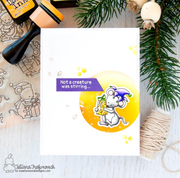 Not A Creature Was Stirring... #handmade card by Tatiana Trafimovich #tatianacraftandart - Naughty or Mice stamp set by Newton's Nook Designs #newtonsnook
