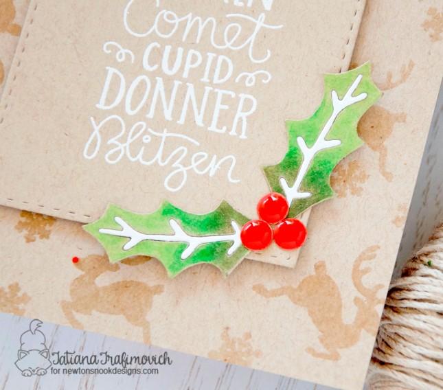 Reindeer Roll Call #handmade card by Tatiana Trafimovich #tatianacraftandart - Reindeer Roll Call stamp set by Newton's Nook Designs #newtonsnook