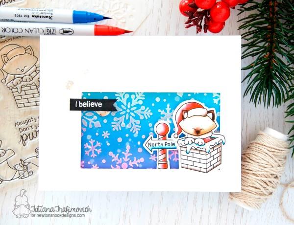 I Believe #handmade card by Tatiana Trafimovich #tatianacraftandart - Santa Paws Newton stamp set by Newton's Nook Designs #newtonsnook