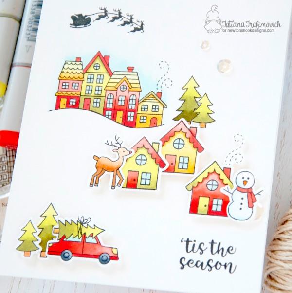 'tis The Season #handmade card by Tatiana Trafimovich #tatianacraftandart - Snow Globe Scenes stamp set by Newton's Nook Designs #newtonsnook